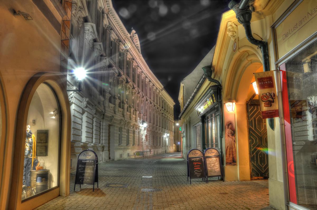 Nachtaufnahme in Baden