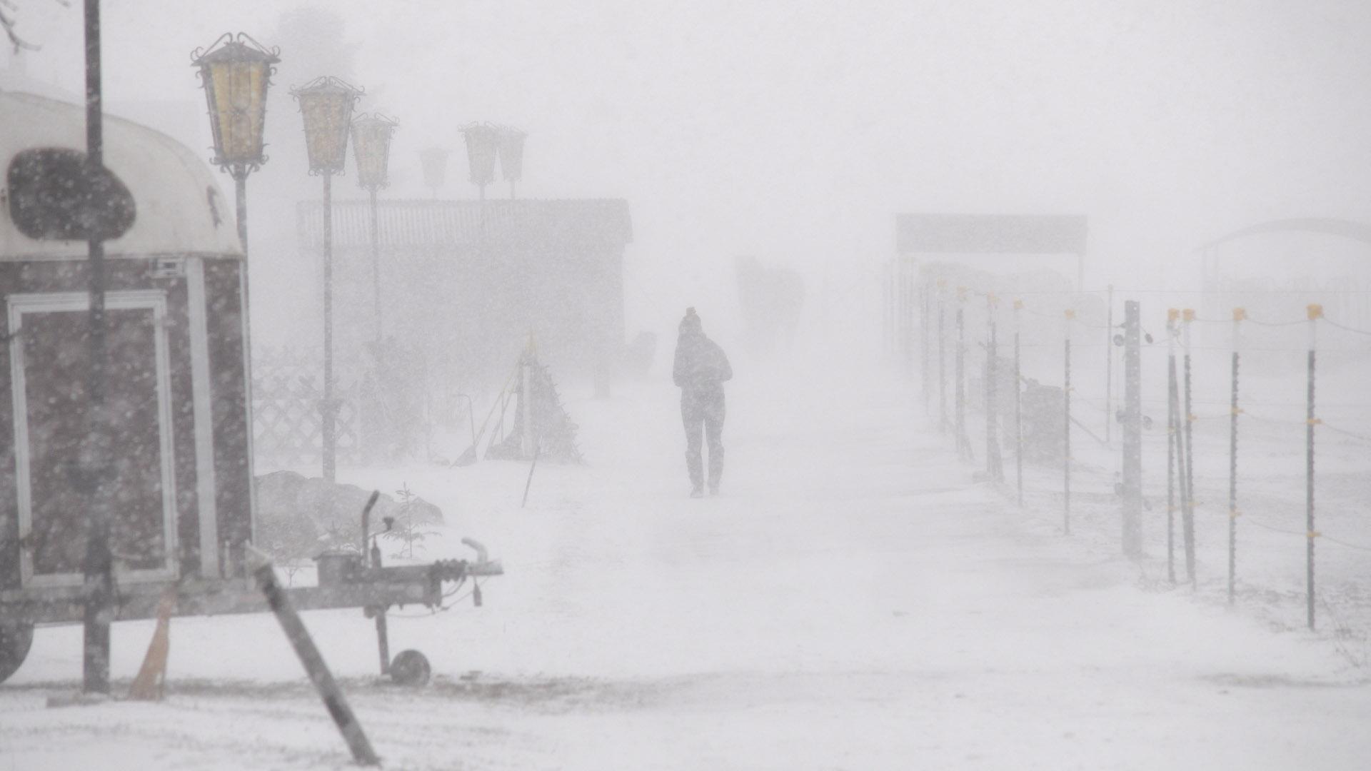 Schneesturm am Reiterhof