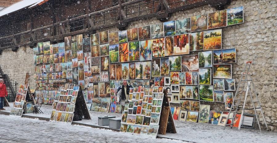 Straßenverkauf in Krakau